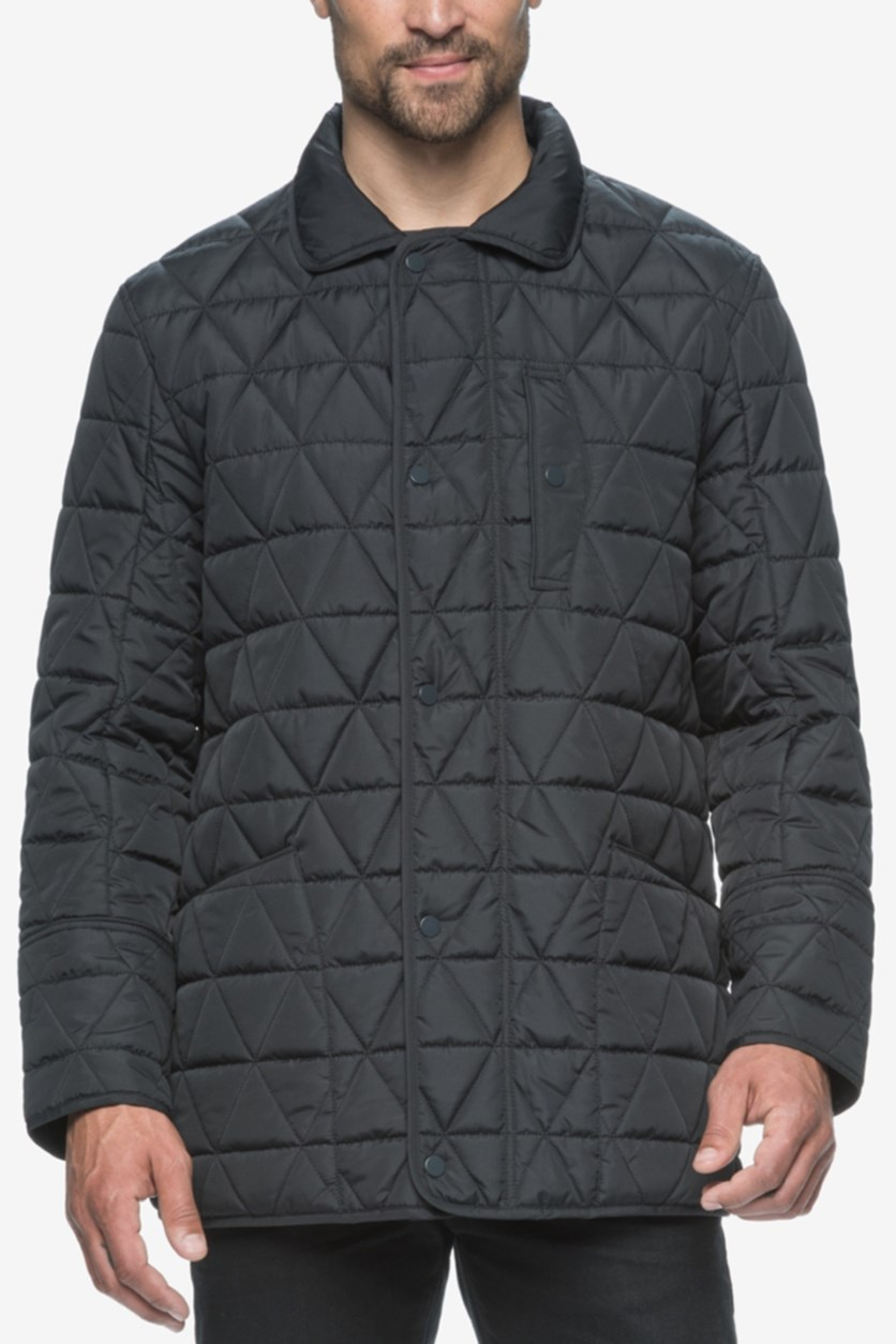 Big & Tall Quilted Field Jacket, Black